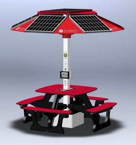Solar-Powered Tables Soon To Be Installed at SJU