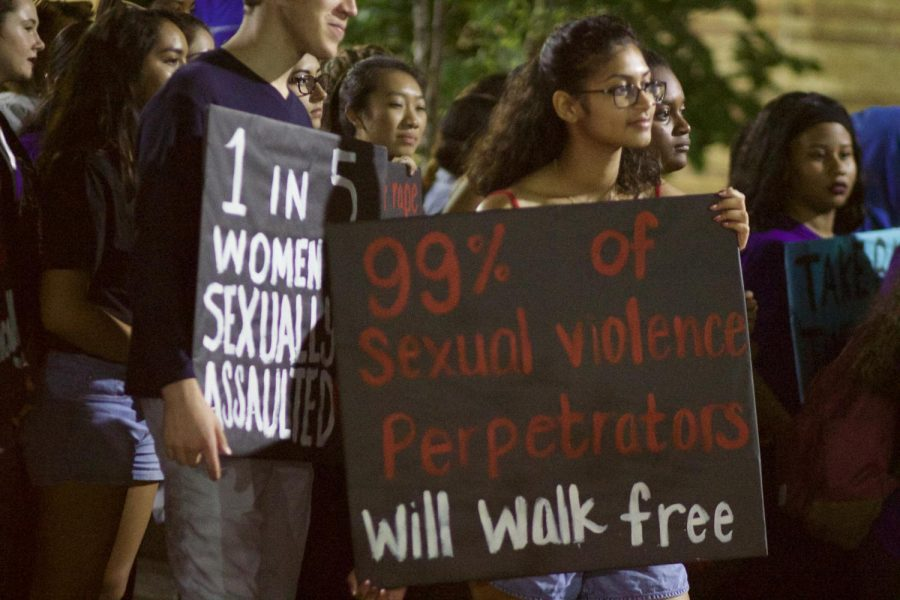 Students+walked+through+campus+in+solidarity+with+victims+of+sexual+violence.