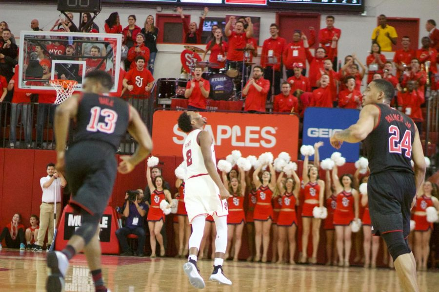 Shamorie Ponds led all scorers with 22 points in a 79-56 victory over Nebraska Thursday night (Torch Photo/Nick Bello).