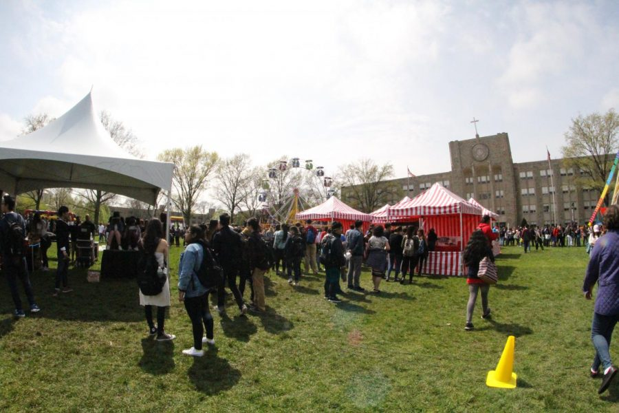 Students enjoyed the University's annual spring carnival.