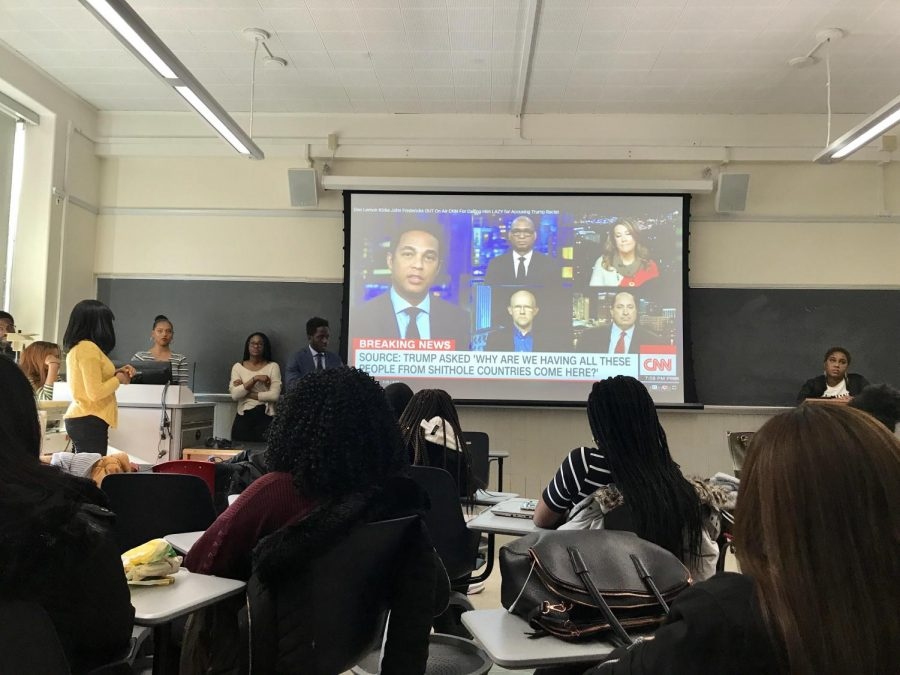 Students discussed Trump's controversial term with Haitian Society and CSA.