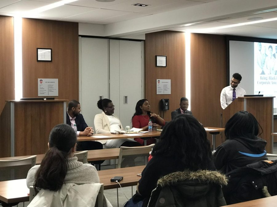 Alpha Kappa Psi and the National Association of Black Accountants put together the event, which featured four established panelists.
