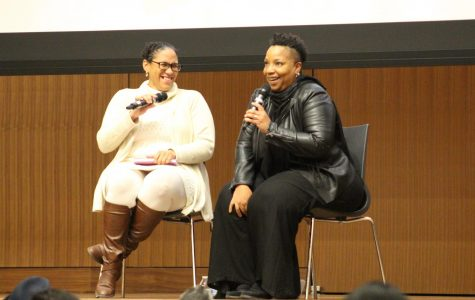 """Vanessa Valdés (left) and Yolanda Arroyo-Pizarro (right) spoke about various themes in Claudia Rankine's """"Citizen"""" and Arroyo-Pizarro's own written work."""
