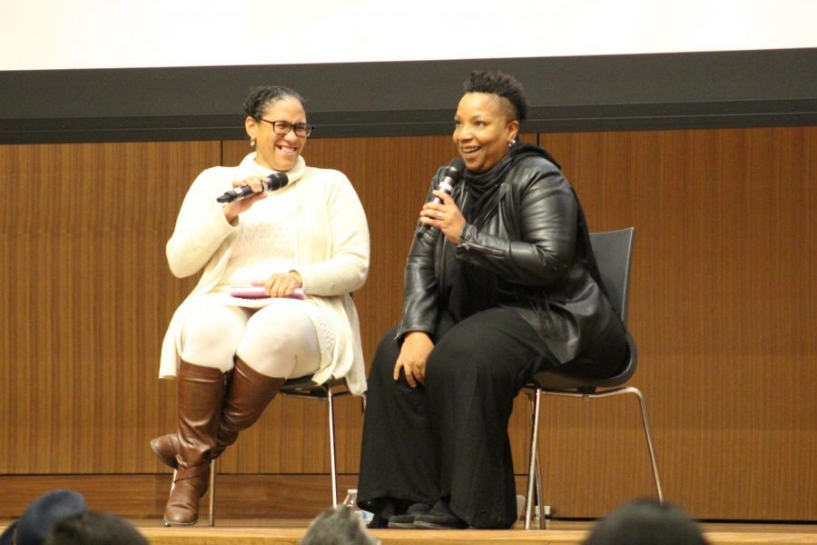 "Vanessa Valdés (left) and Yolanda Arroyo-Pizarro (right) spoke about various themes in Claudia Rankine's ""Citizen"" and Arroyo-Pizarro's own written work."
