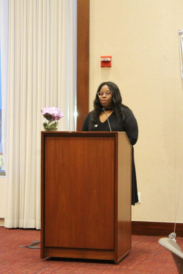 "Bre'Anna Grant recited her spoken word, ""Was Beautiful."""