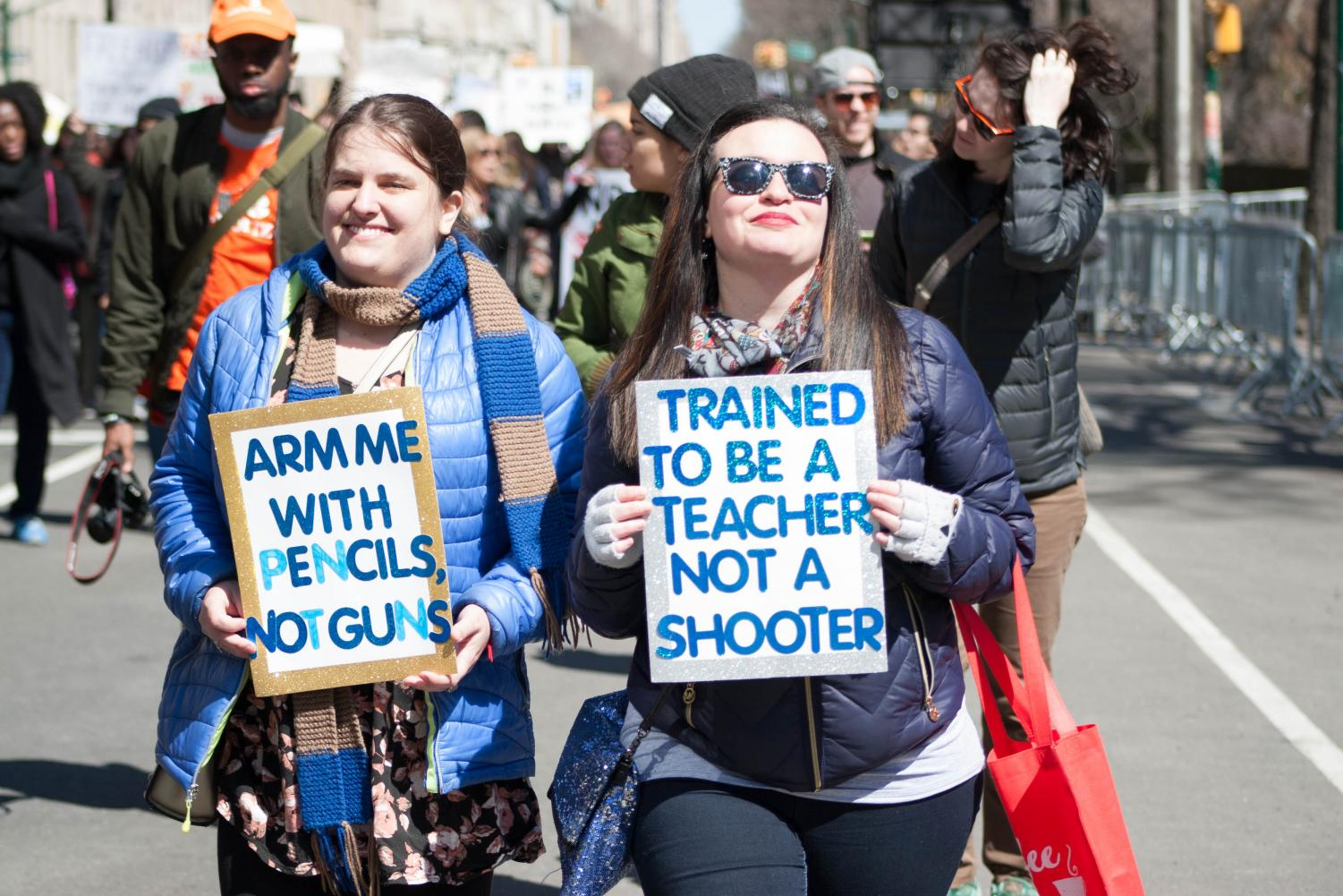 Many St. John's students attended the March For Our Lives rally in Manhattan last Saturday, March 24.