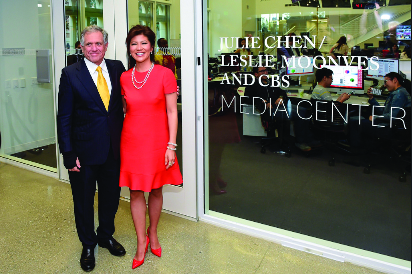 Leslie Moonves and Julie Chen are both in the midst of an intense media circus.