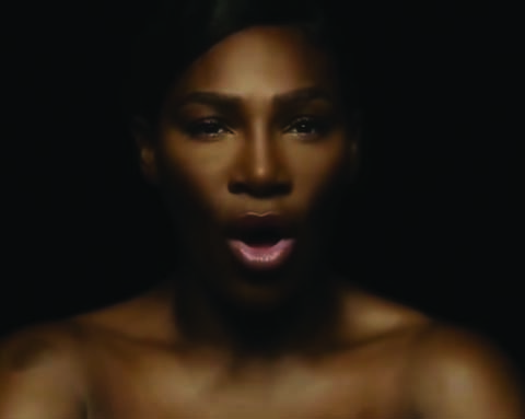 "Tennis player Serena Williams sings Divinyls's hit ""I Touch Myself"" shirtless in new ad."