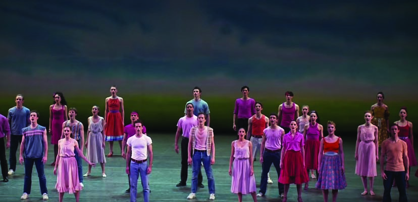 The New York City Ballet sings and dances in the West Side Story Suite.