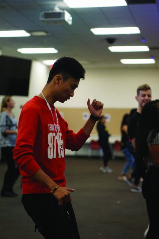 Students enjoyed learning how to salsa dance at Sensación's event on Sept. 27.