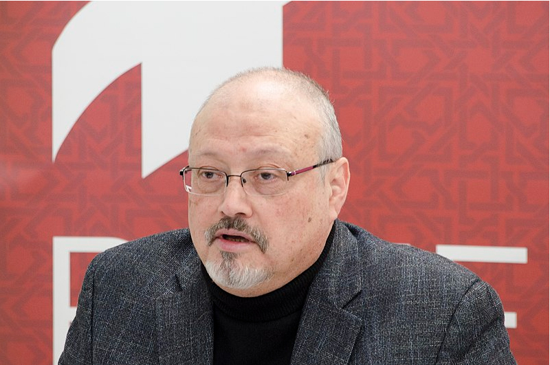 Washington Post columnist, Jamal Khashoggi offering remarks during a POMED meeting.