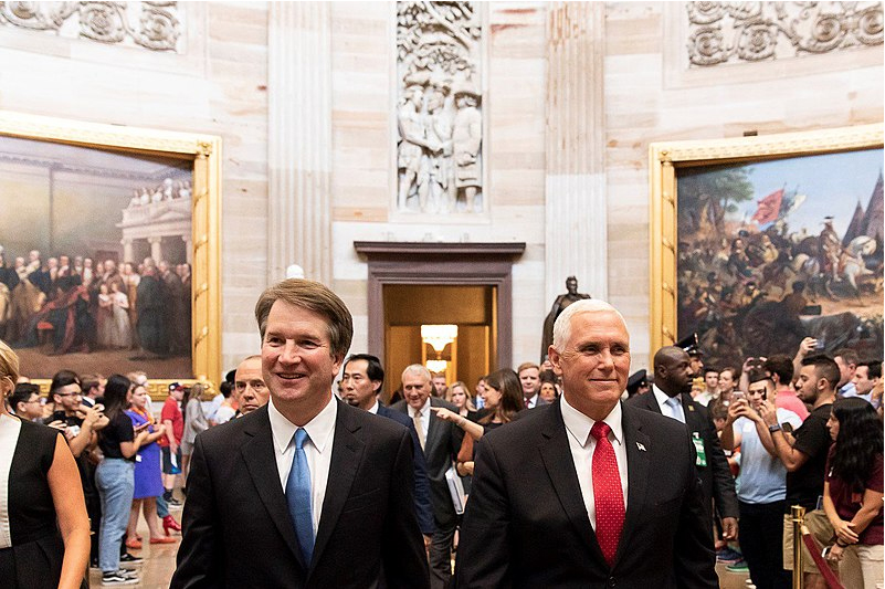Recently+nominated+Brett+Kavanaugh+and+Vice+President+Mike+Pence+together+in+D.C.+%0A