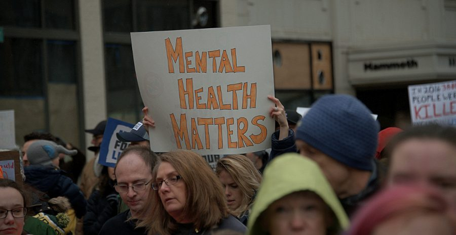 Advocates of mental health protesting for more concern for mental health in the U.S.