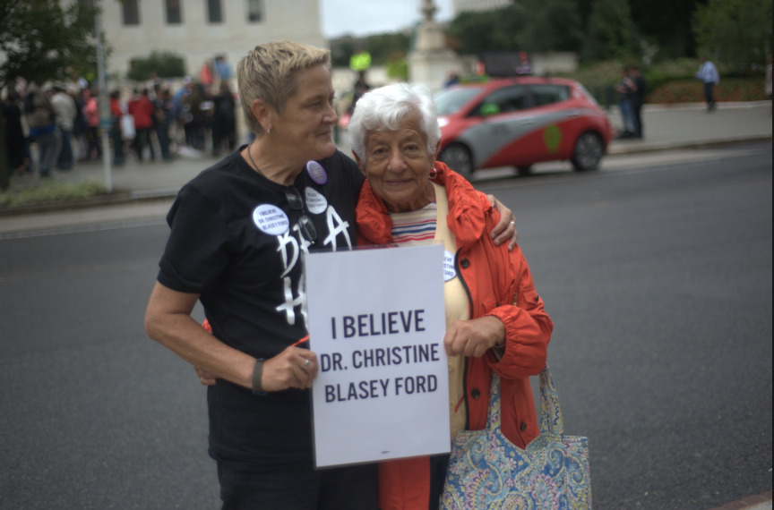A protest on the streets of Washington D.C. against Brett Kavanaugh