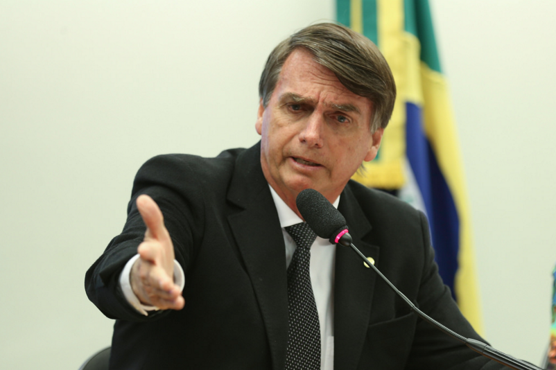 Newly elected President Jair Bolsonaro speaking during his prosecution with the Counsel of Ethics of Brazil.