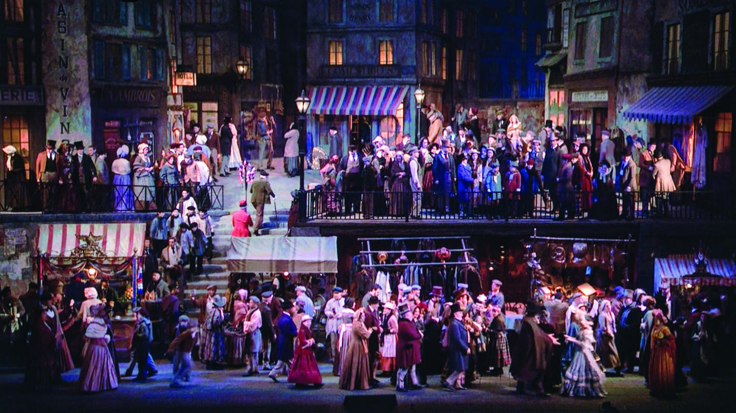 """La Bohème"" at the Met Opera in 2014 with a set similar to this season's."