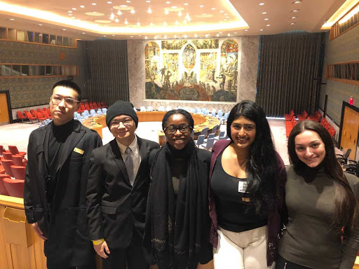 From left to right: Jinqi Mao (I.T. team), Ralph C. Tecson (marketing team), Nneka V. Anozie (marketing team), Sonia Raphael (I.T. team), and Gabriella Romano (I.T. team)