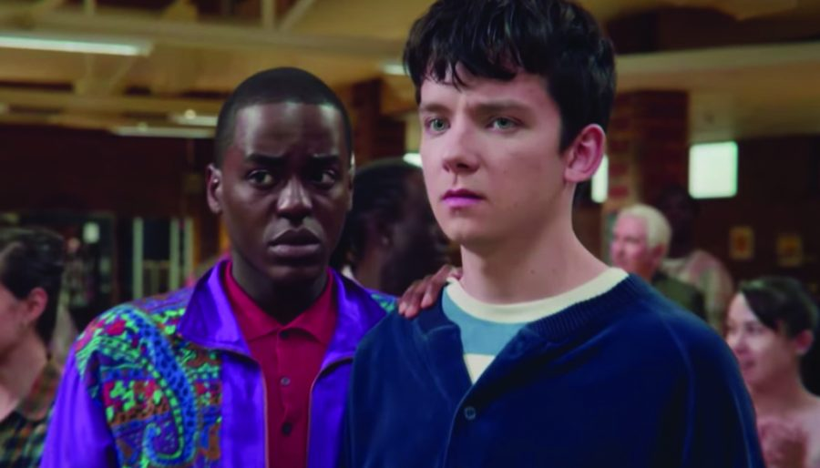 "Asa Butterfield and Ncuti Gatwa on Netflix's ""Sex Education."""