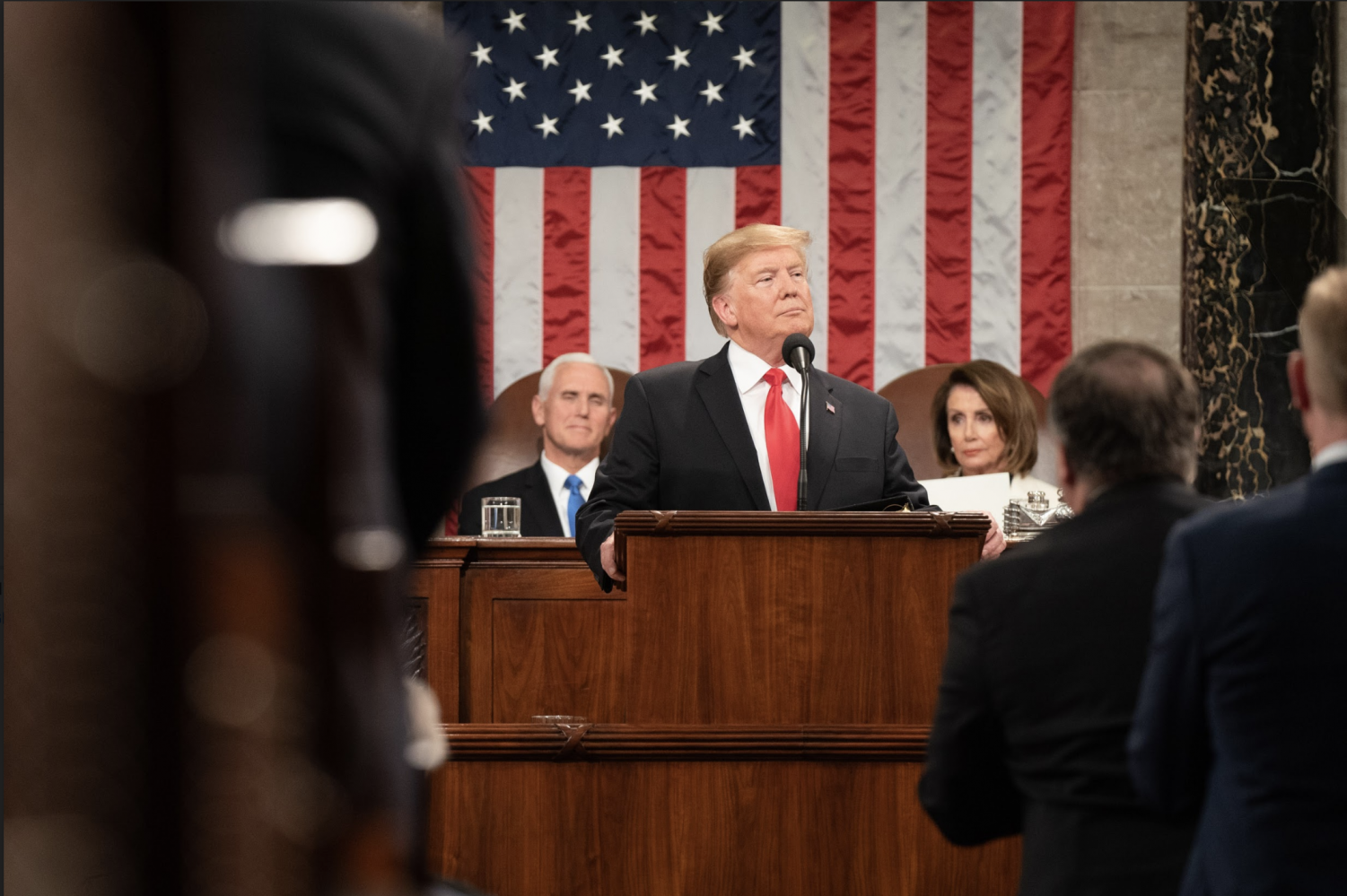 President Donald Trump delivering the State of the Union on Feb. 5.