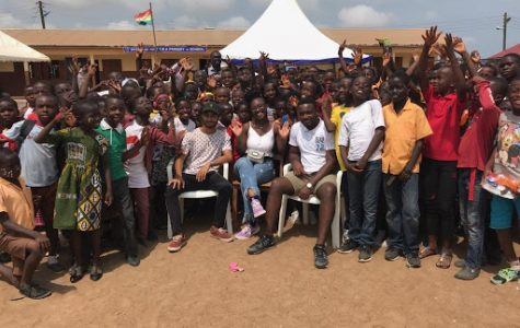"""""""Our Day Party"""" event with Renegades Africa Advertising Agency Ltd. for the 1,200 students of the Kotobabi No. 2 Cluster of Schools to mark the end of their term."""