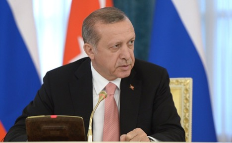 President Erdoğan's during an August 2016 press conference alongside Russian President Vladimir Putin.