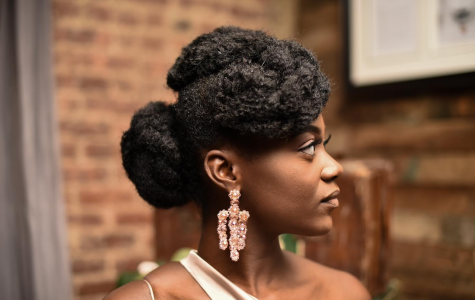 A side profile of senior Beverly Danquah showcasing her locs.