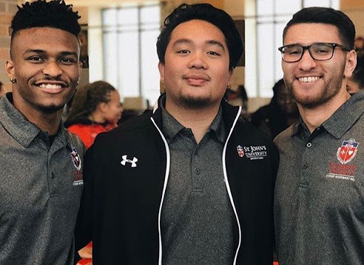 Matt Macatula (middle) is pictured with fellow SGI members Clyde Drayton (left) and Anthony Romeo (right).