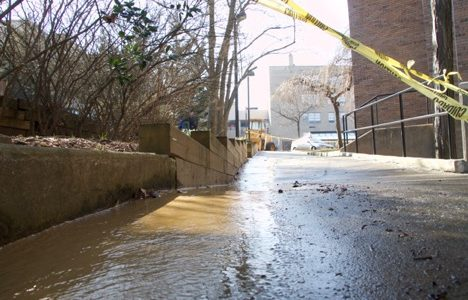 Public Safety sent out a text alert and phone call to members of the SJU community to inform of water main leak.