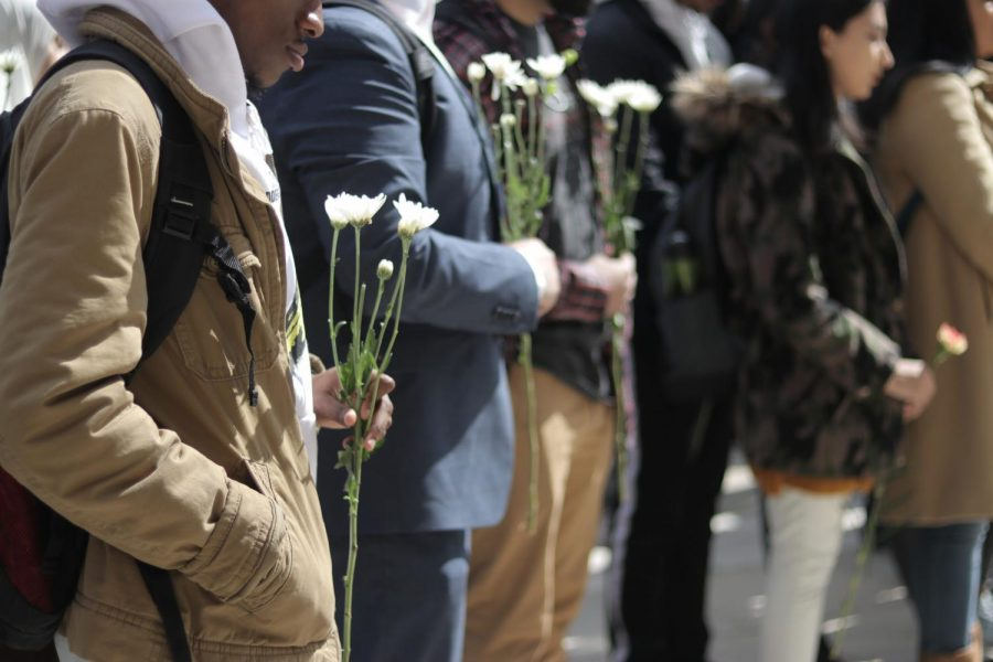 The Muslim Students Association held a vigil, led by President Mohammed Wasi and VP Umar Syed, in front of DAC on Monday in remembrance of the 50 killed in New Zealand.