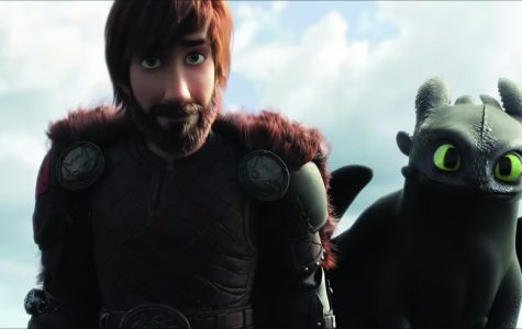 "Hiccup and Toothless reunite 10 years later at the end of the third installment of ""How To Train Your Dragon."""