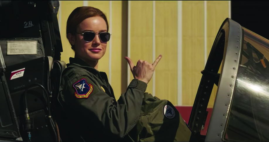 Brie Larson plays Carol Danvers in Marvel's first female-led film.