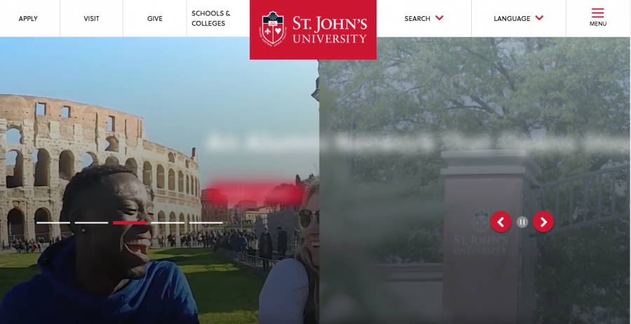 The new University website shows a sleeker look for a more user-friendly experience at www.stjohns.edu.