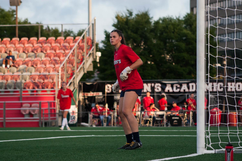 Against Stony Brook, St. John's goalkeeper Mia Lipkens saved a career high 11 shots on net.