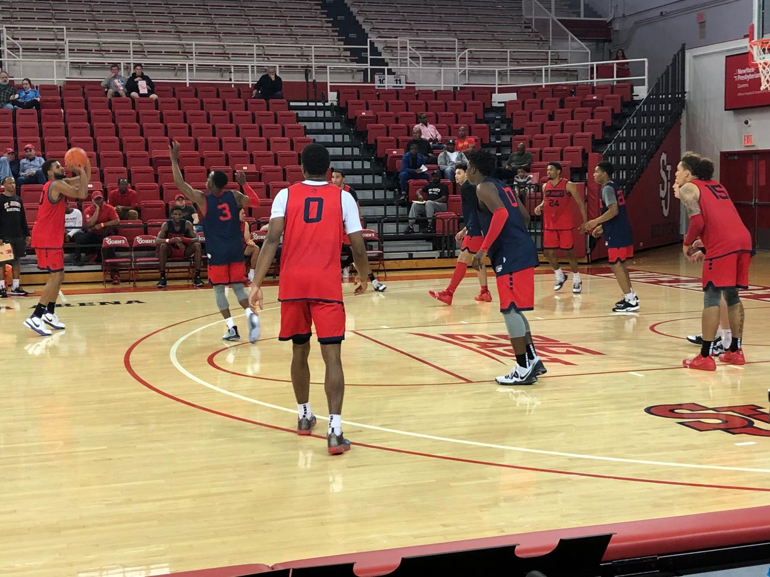 St. John's Men's Basketball practiced in front of season ticket holders this past weekend at Carnesecca.