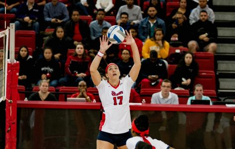 Senior setter Erica Di Maulo moives is now second in assists in program history.