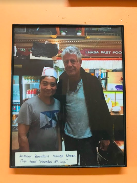 Chef Ben with Anthony Bourdain on Nov. 13, 2016 at Lhasa Fast Food.
