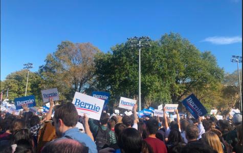 Bernie Sanders Hosts Rally at Queensbridge Park