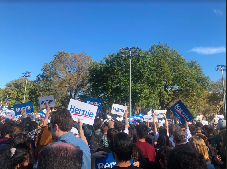 Bernie Sanders Hosts Rally at Queensbridge Park