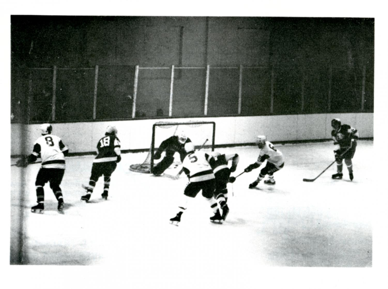 The St. John's Ice Hockey team achieved varsity status in 1980.