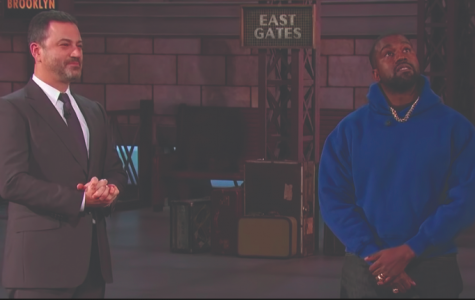 "Kanye West promotes his new album, ""Jesus is King,"" on Jimmy Kimmel Live."