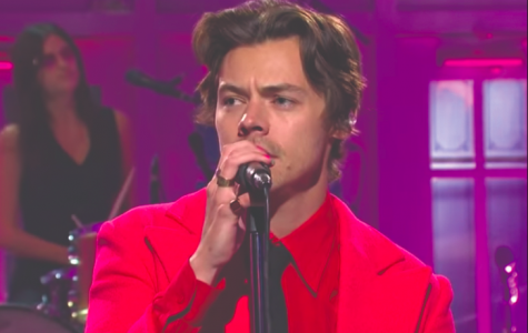 "Harry Styles performs his latest single, ""Watermelon Sugar,"" live on SNL."