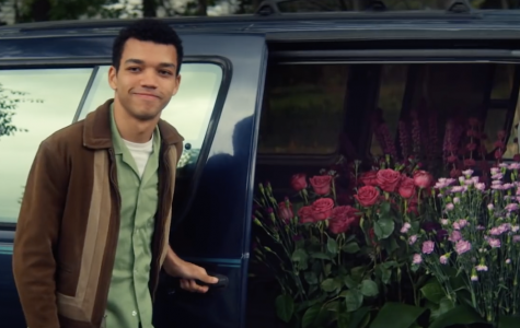 Theodore Finch (Justice Smith) brings Violet Markey (Elle Fanning) a truckload of her favorite flowers to cheer her up. PHOTO COURTESY/YouTube Netflix