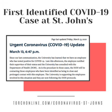 St. John's Employee Tests Positive For Coronavirus