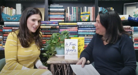 "Author Rebecca Serle (left) discusses the character development in her latest novel, ""In Five Years,"" in an interview with The Book Reporter Network. PHOTO COURTESY/ YOUTUBE THE BOOK REPORTER NETWORK"
